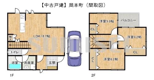 ★【中古戸建】岡本町!ソーラーパネル付き・オール電化のお家!