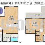 【新築戸建】津之江町1丁目!北東角地のお家です!